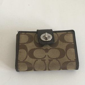 Coach Brown Mini Wallet